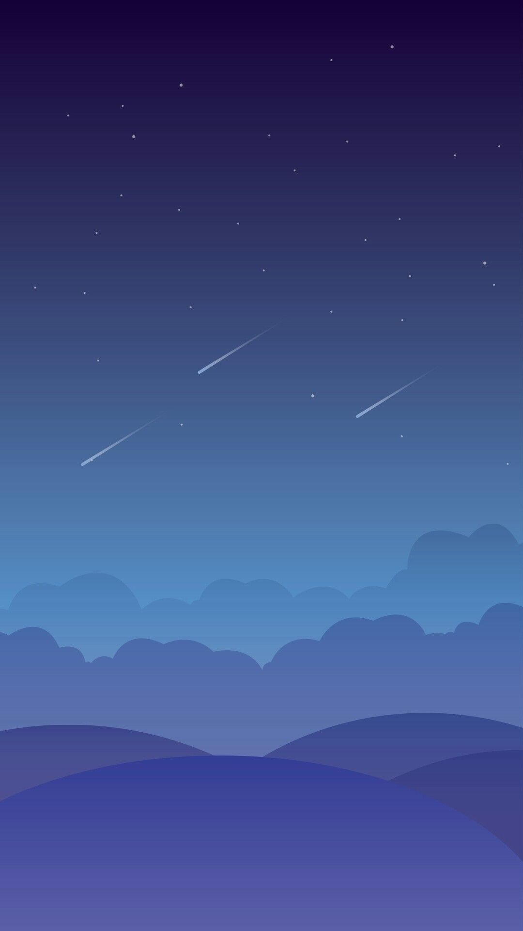 Animated Sky Clouds Stars iPhone Wallpaper