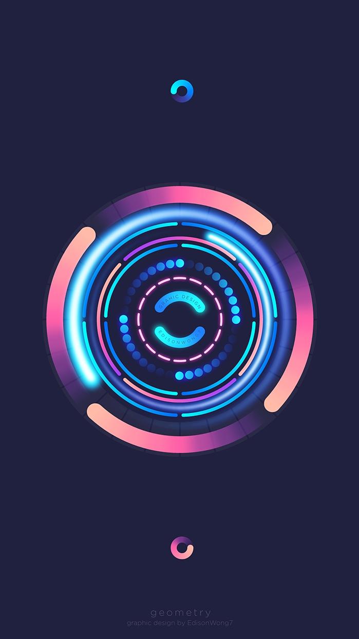 Art Circle iPhone Wallpaper