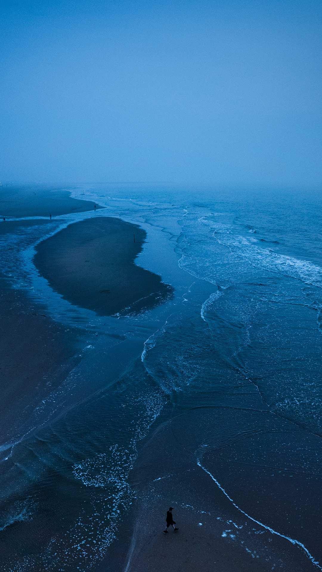 Beach Blue Water iPhone Wallpaper