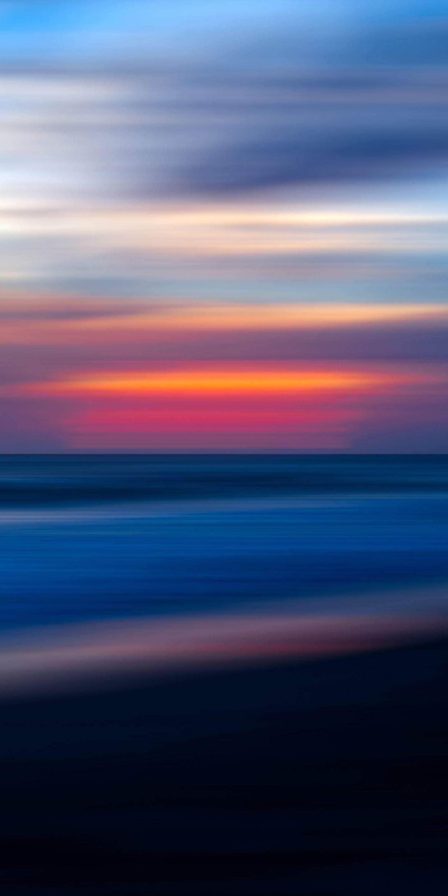 Beach Blur iPhone Wallpaper