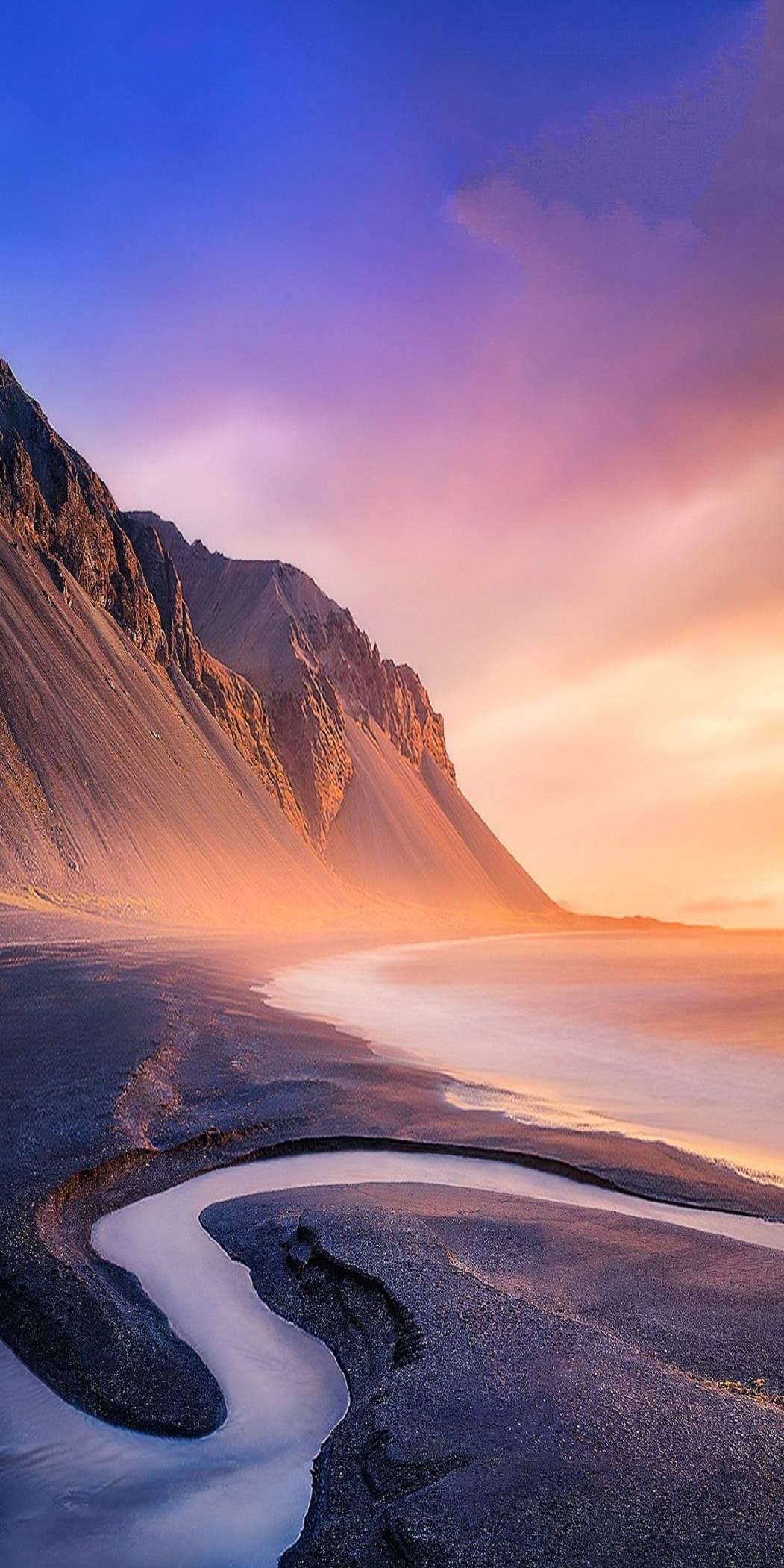 Beach Mountains iPhone X Wallpaper