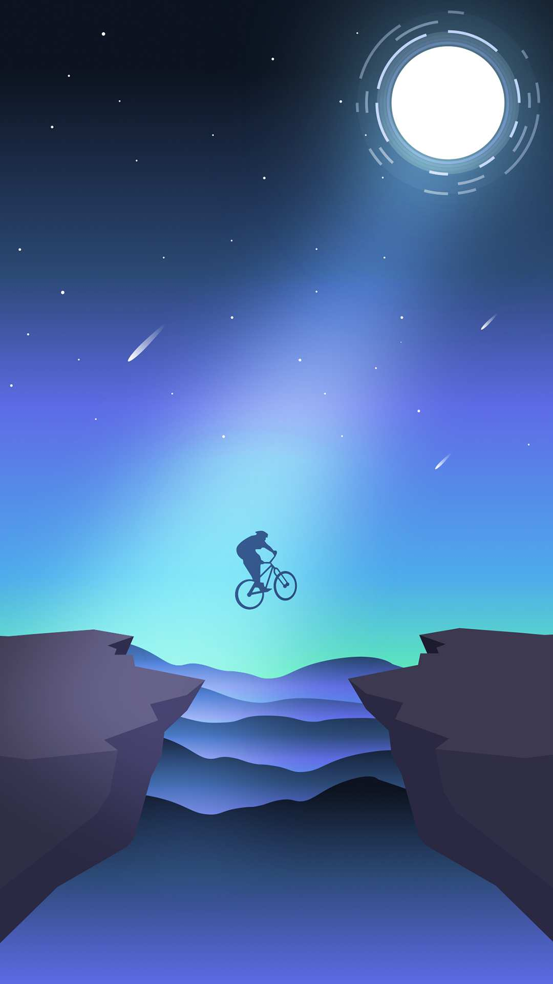 Bicycle Stunt Minimal iPhone Wallpaper