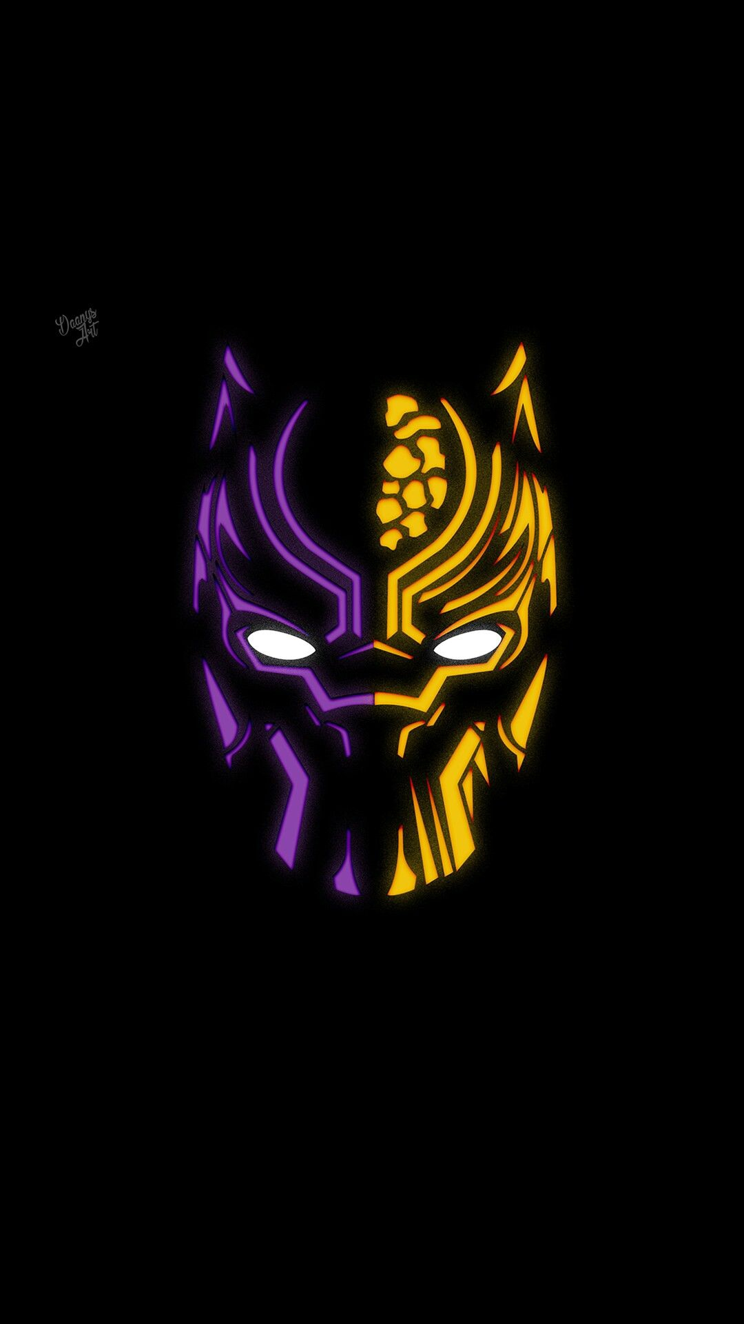 black panther minimal neon iphone wallpaper iphone