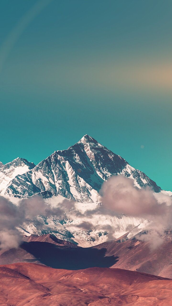 Clouds Over Snow Mountain iPhone Wallpaper