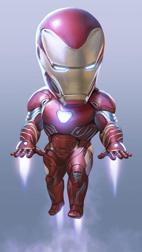 Cute Iron Man Mark 50 iPhone Wallpaper