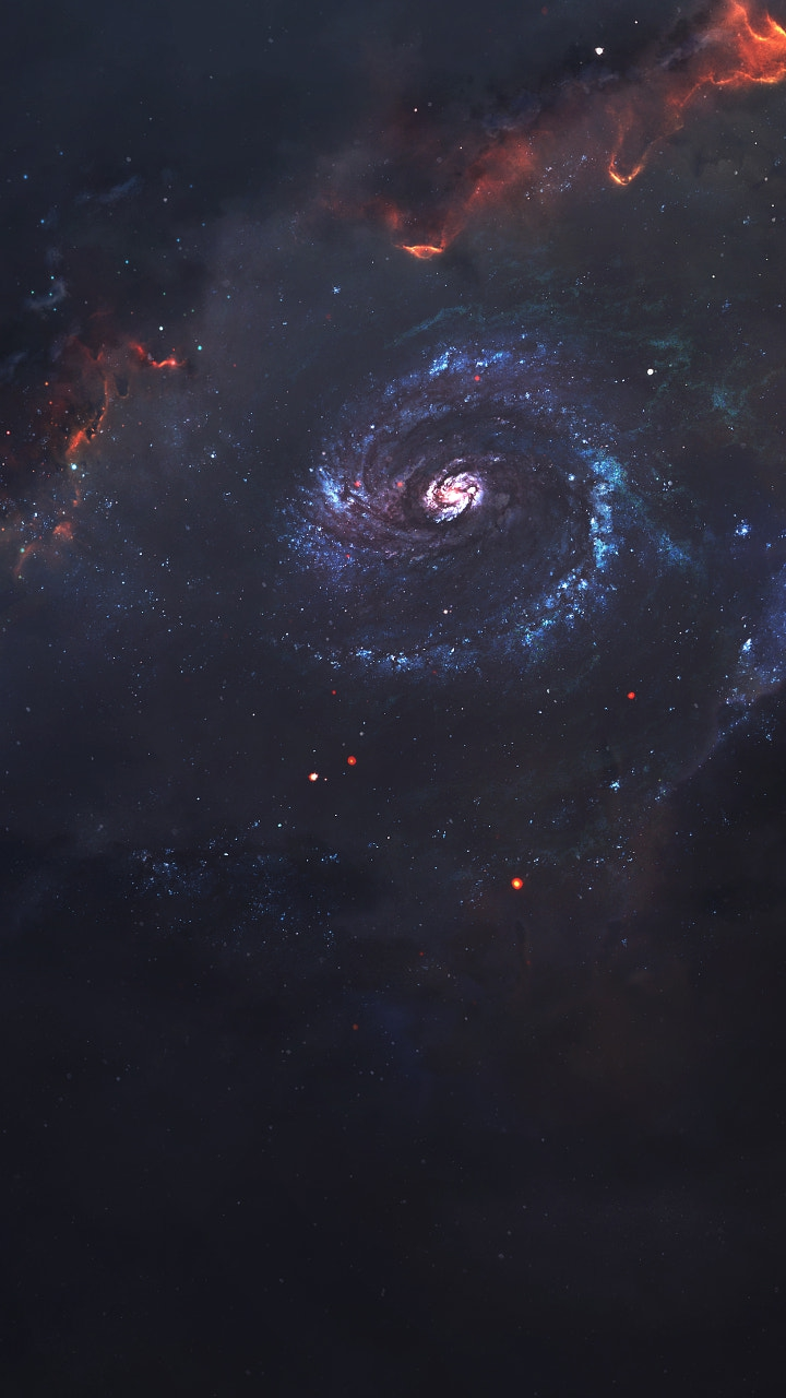 Dark Galaxy Universe iPhone Wallpaper
