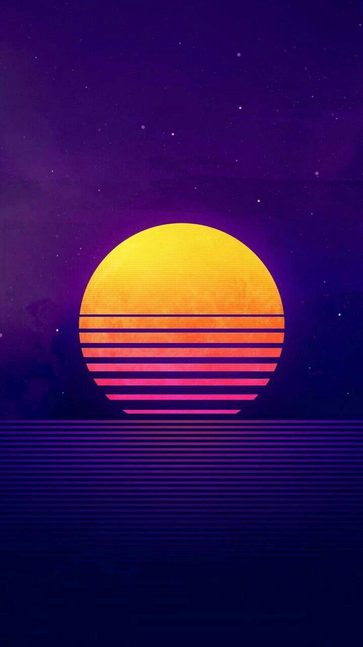 Digital Sunrise Art iPhone Wallpaper