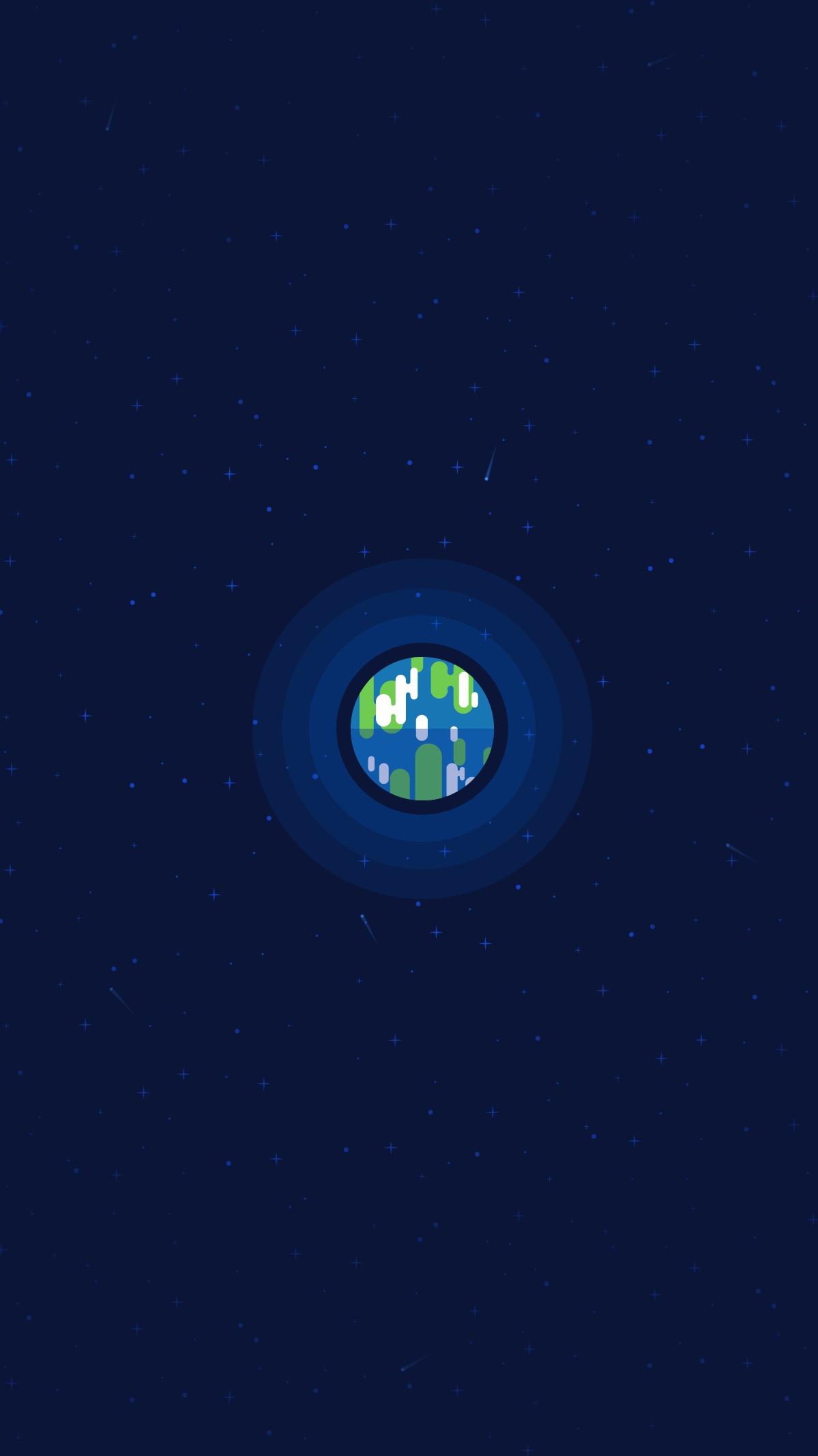 Earth Minimal iPhone Wallpaper