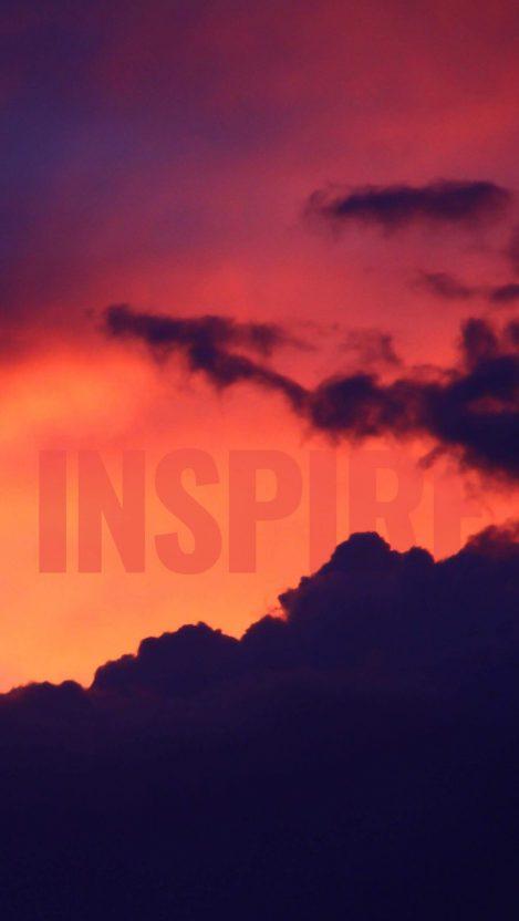 Inspire Nature Sunset iPhone Wallpaper