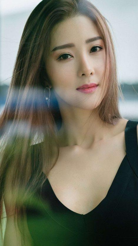 Korean Beautiful Brunette iPhone Wallpaper
