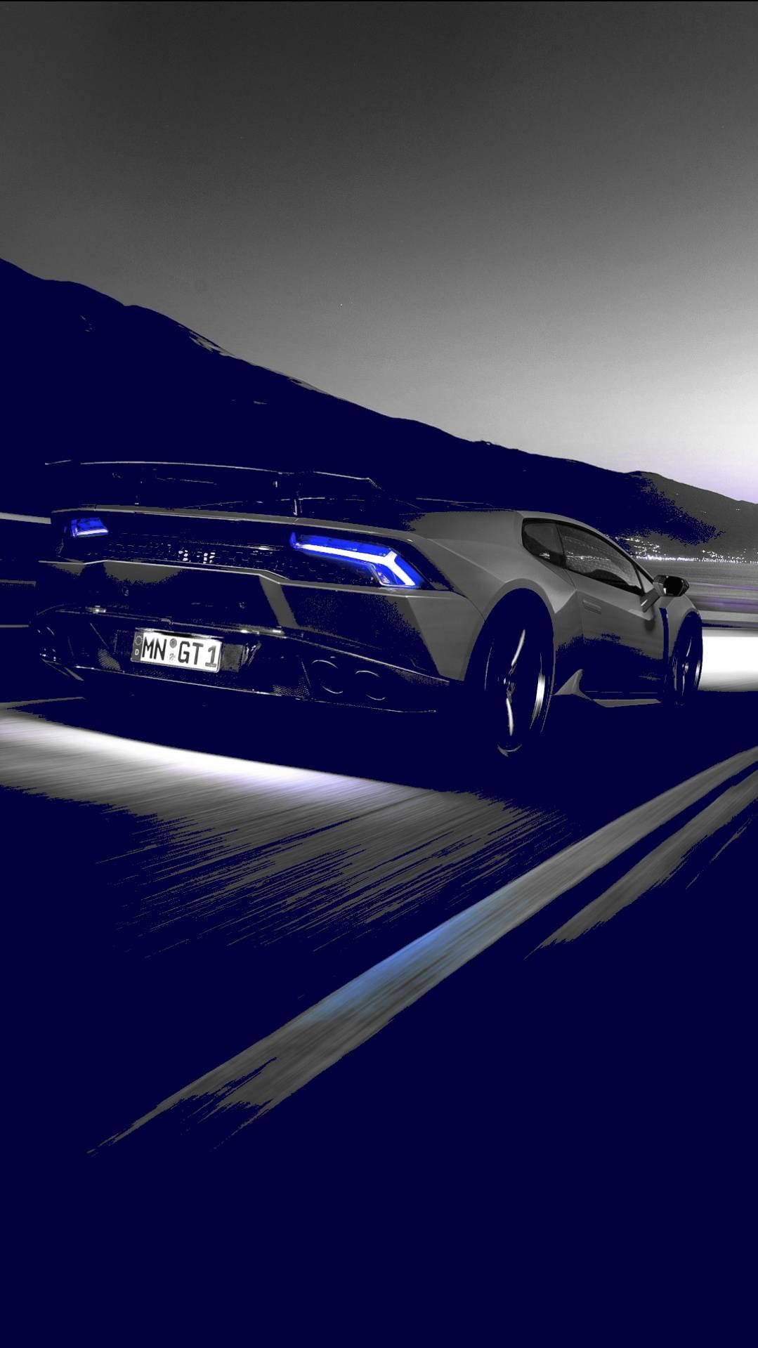 Lamborghini on Road iPhone Wallpaper - iPhone Wallpapers