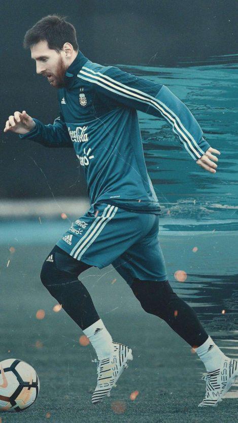 Leo Messi Football iPhone Wallpaper