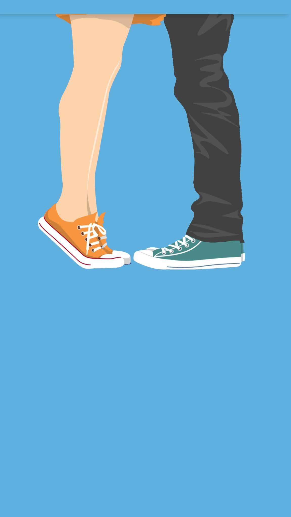 Love Couple Minimal iPhone Wallpaper