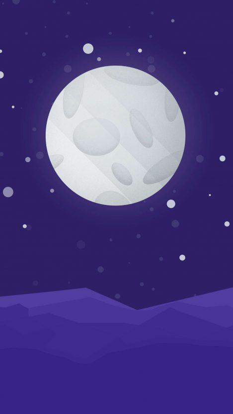 Minimal Moon iPhone Wallpaper