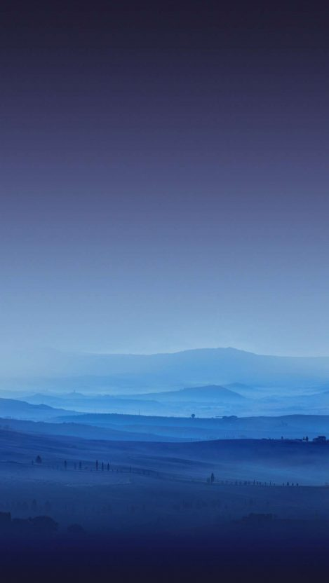 Mist Fog in Nature Fields iPhone Wallpaper