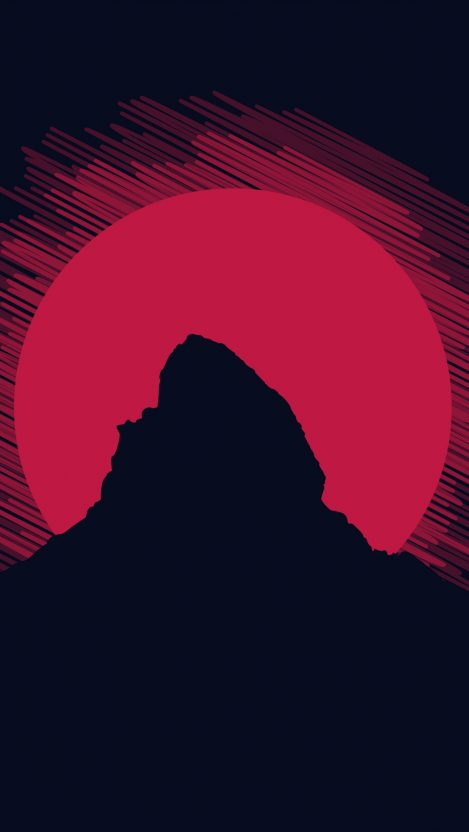 Mountain Minimal iPhone Wallpaper