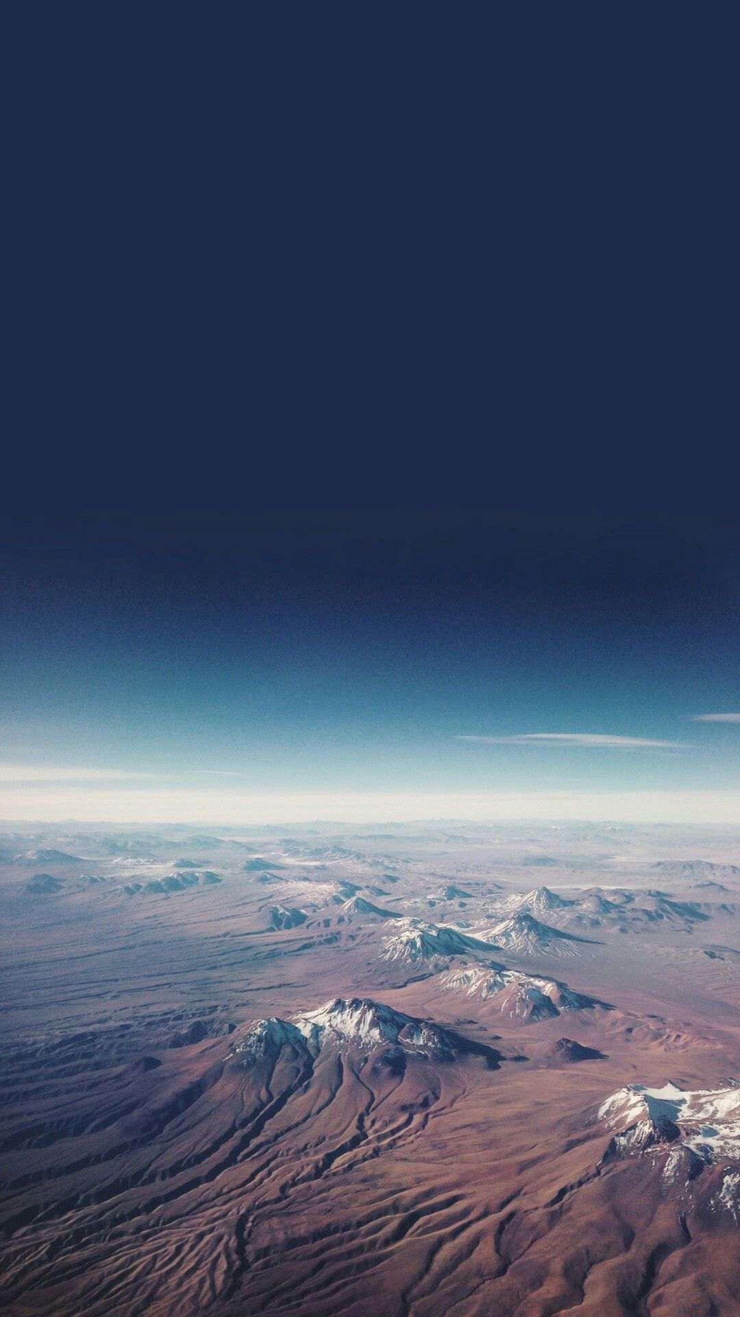 Mountains from Sky High altitude iPhone Wallpaper