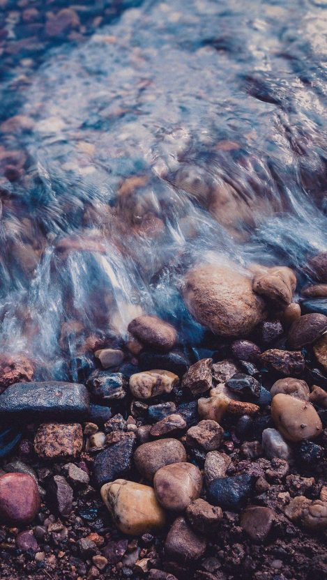 Nature Water Stones iPhone Wallpaper