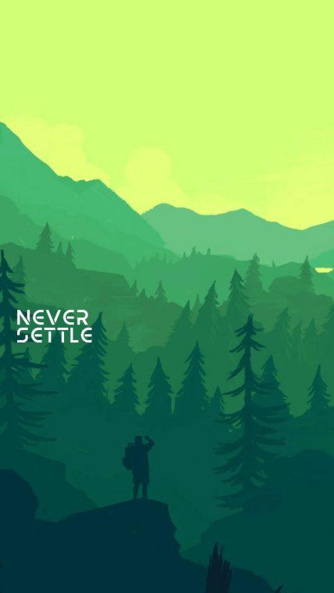 Never Settle Illustrator Art iPhone Wallpaper