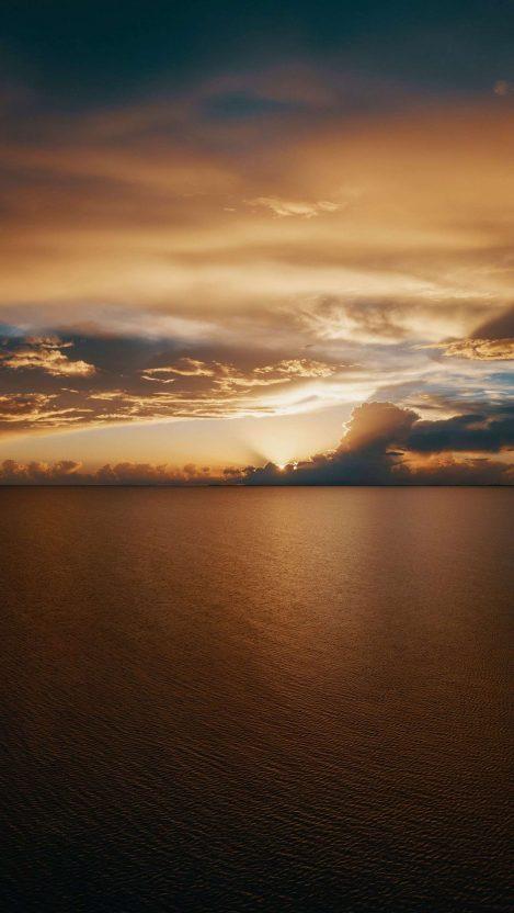Ocean Nature Clouds iPhone Wallpaper