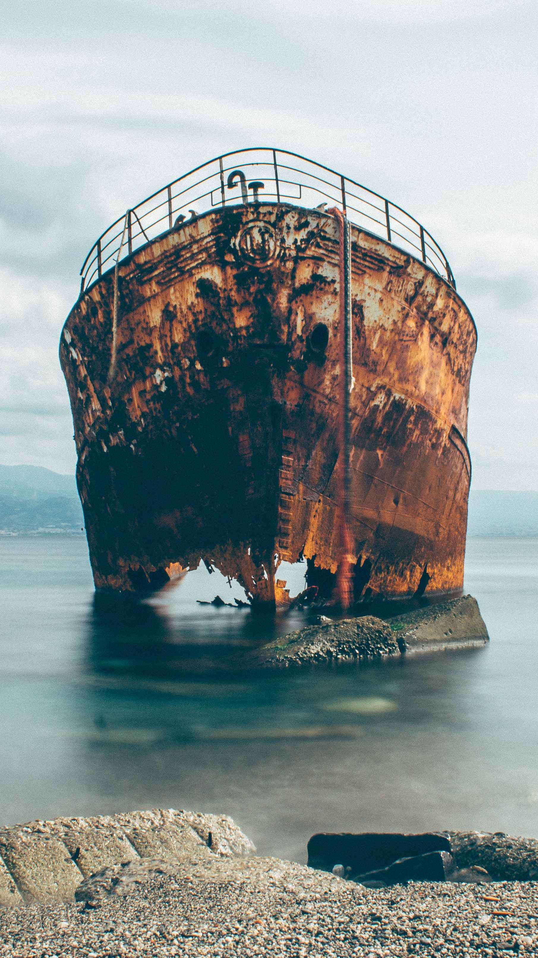 Old Rusted Ship iPhone Wallpaper