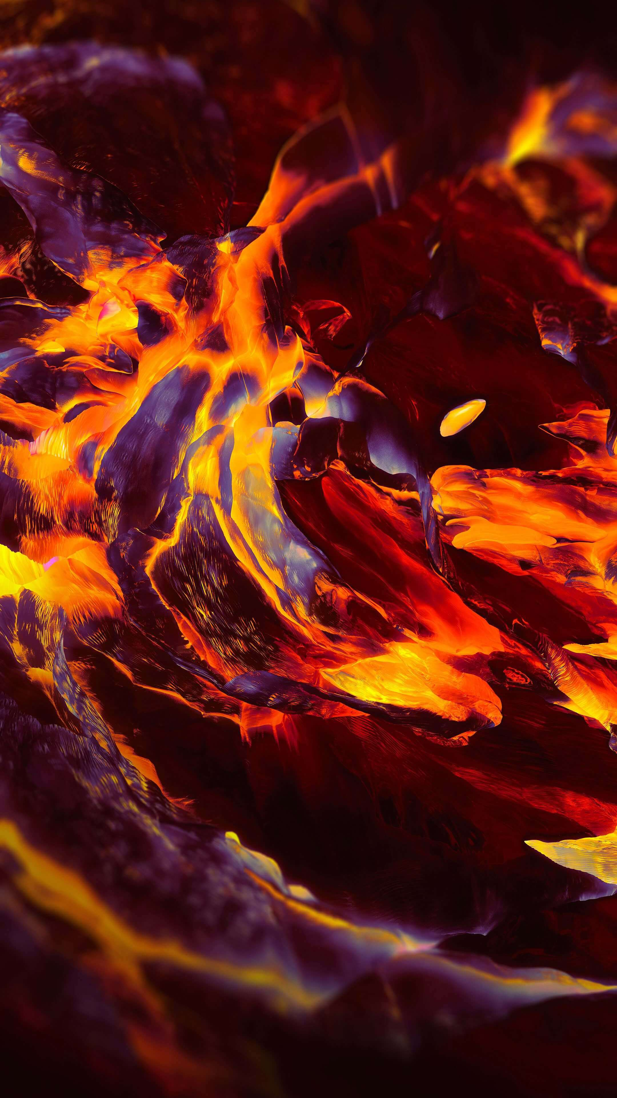 OnePlus Fire Art iPhone Wallpaper