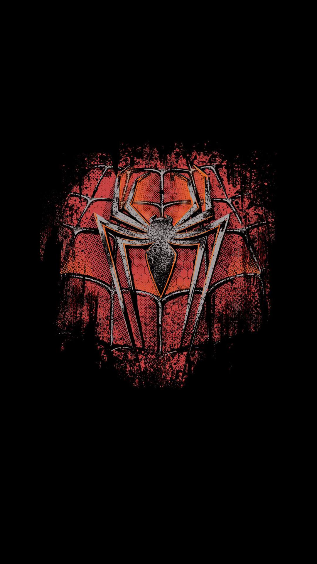 Spiderman Logo Minimal Artwork iPhone Wallpaper