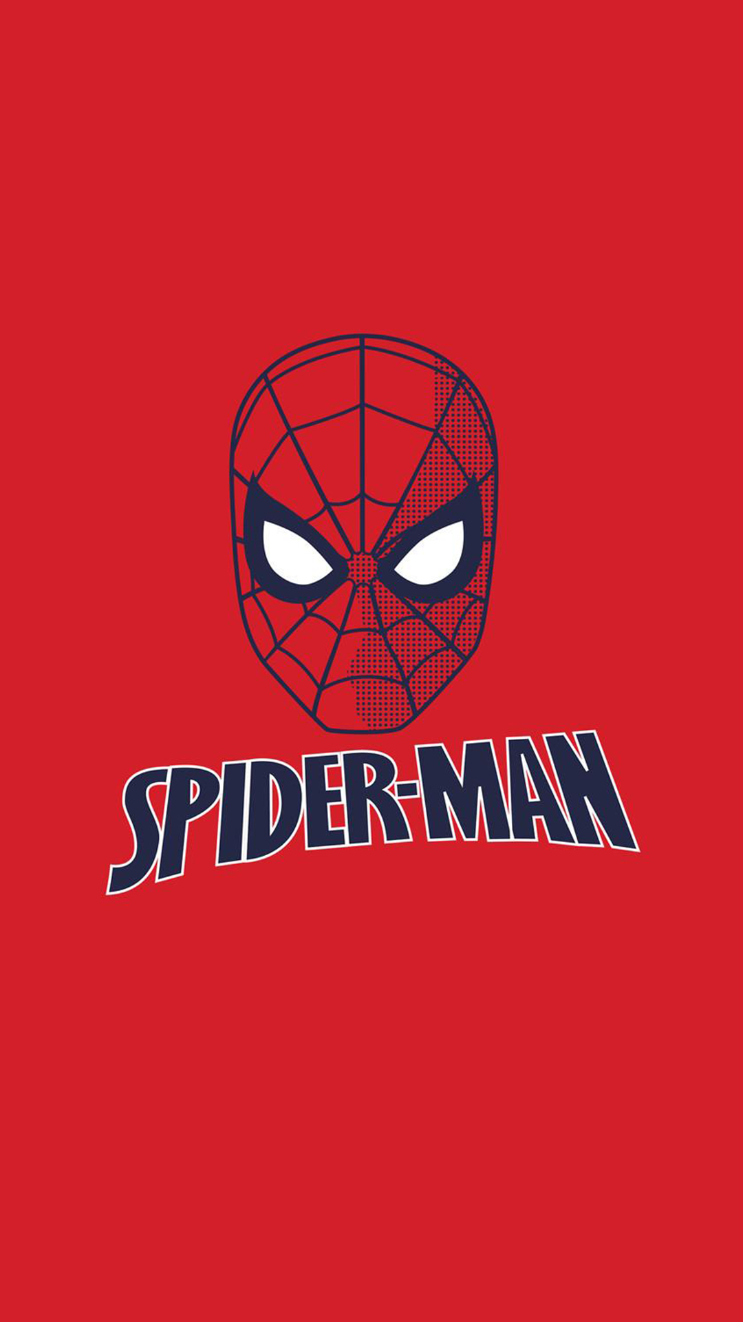 Spiderman Red Minimal iPhone Wallpaper