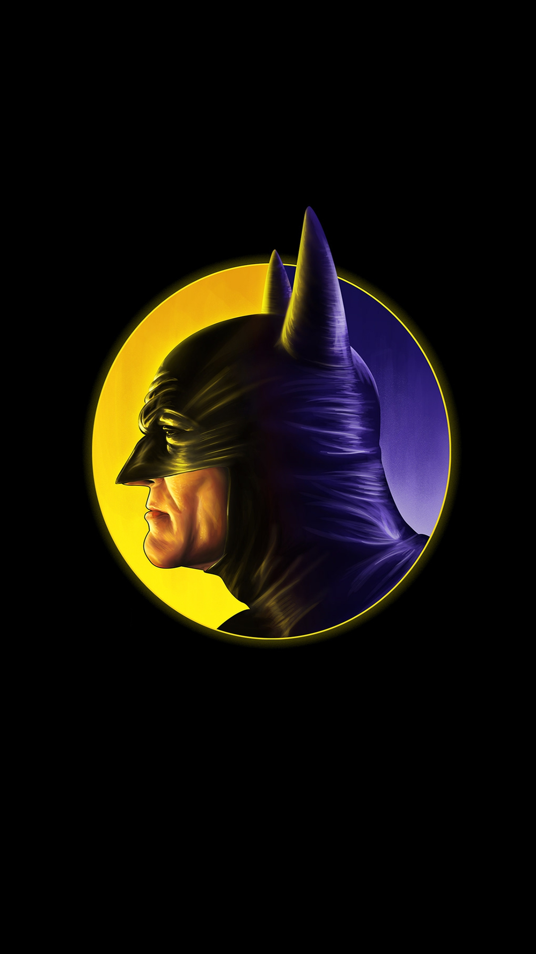 The Batman Dark Minimal iPhone Wallpaper