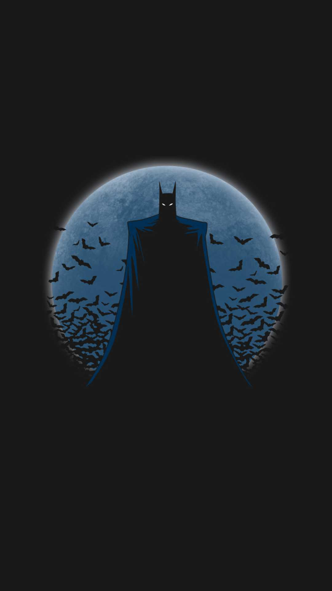 The Batman Minimal Dark iPhone Wallpaper