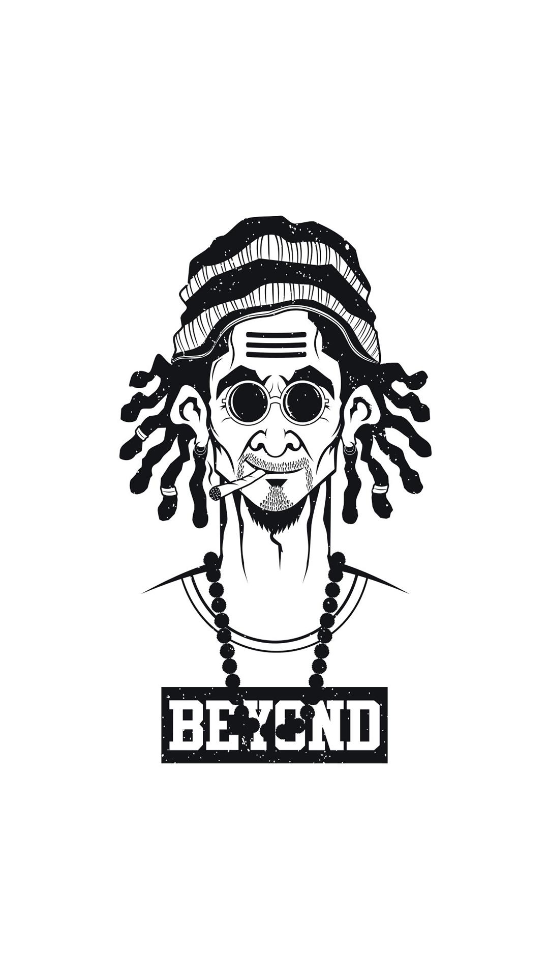 Thug Life Dope Weed Man iPhone Wallpaper