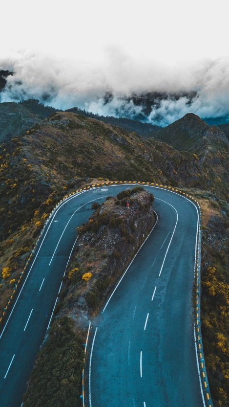 Twisted Mountain Road Nature iPhone Wallpaper