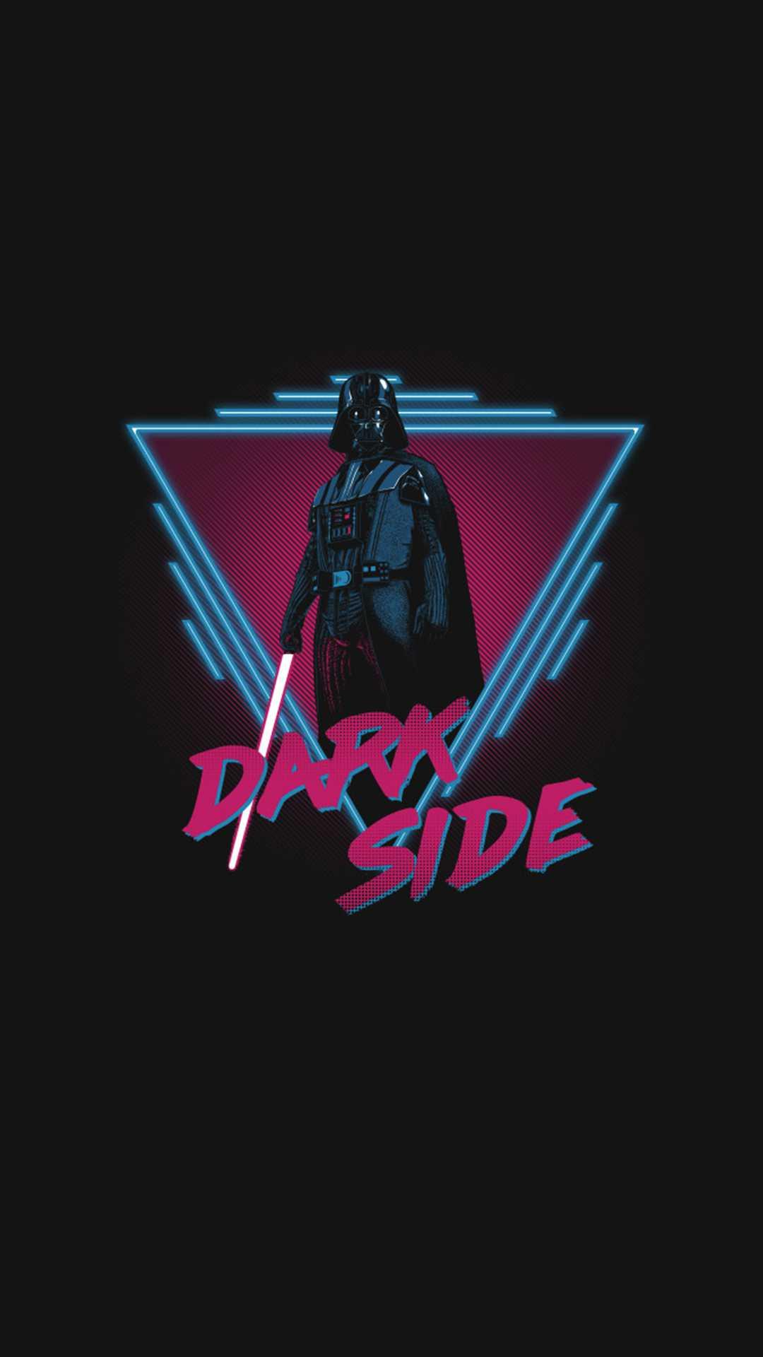 Vader Minimal Dark iPhone Wallpaper