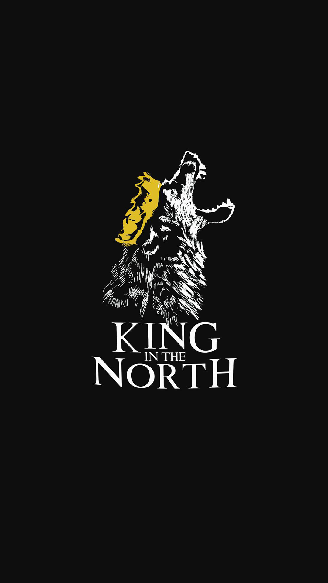 Wolf King of the North iPhone Wallpaper
