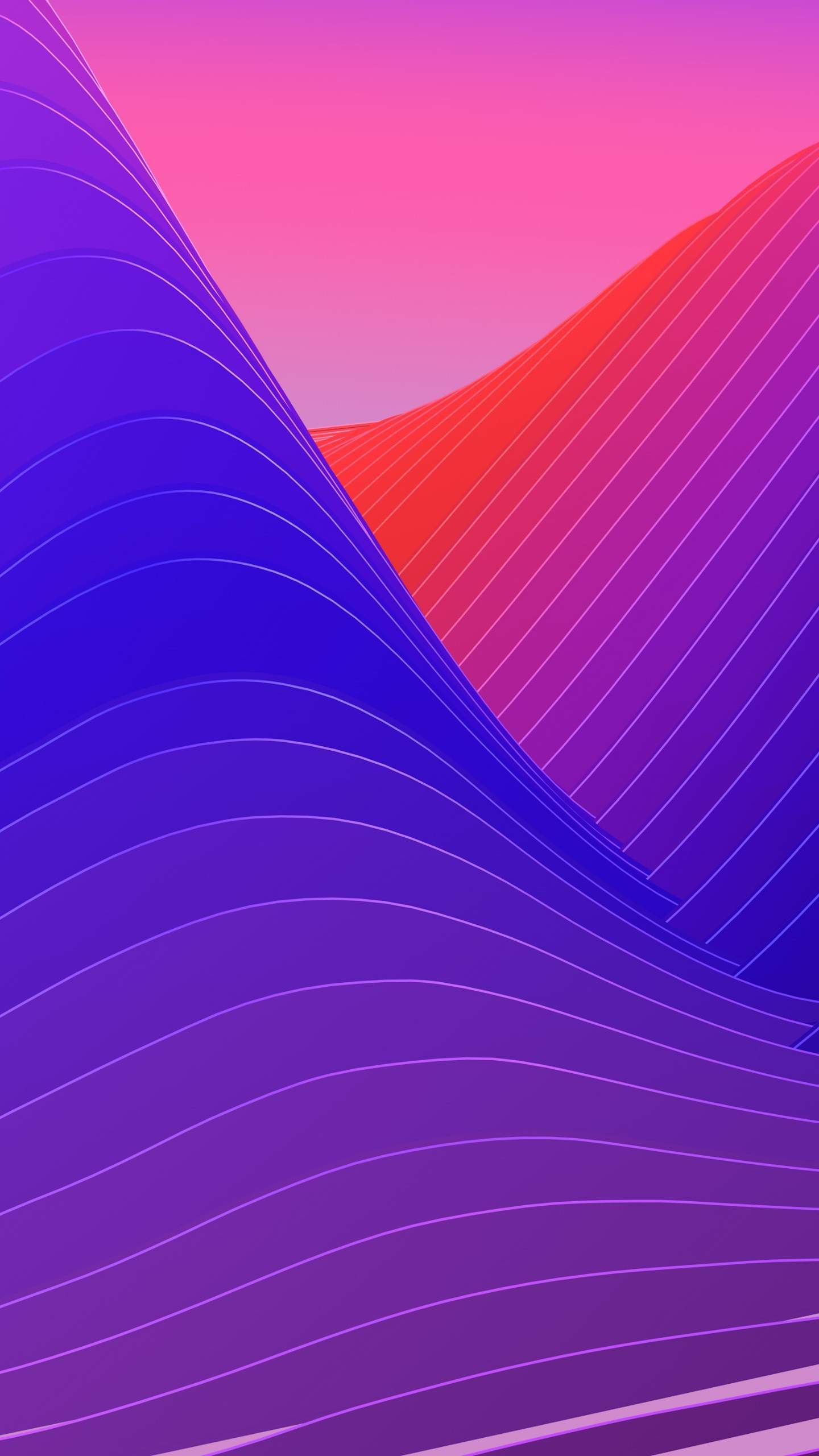 Abstract Color waves iPhone Wallpaper