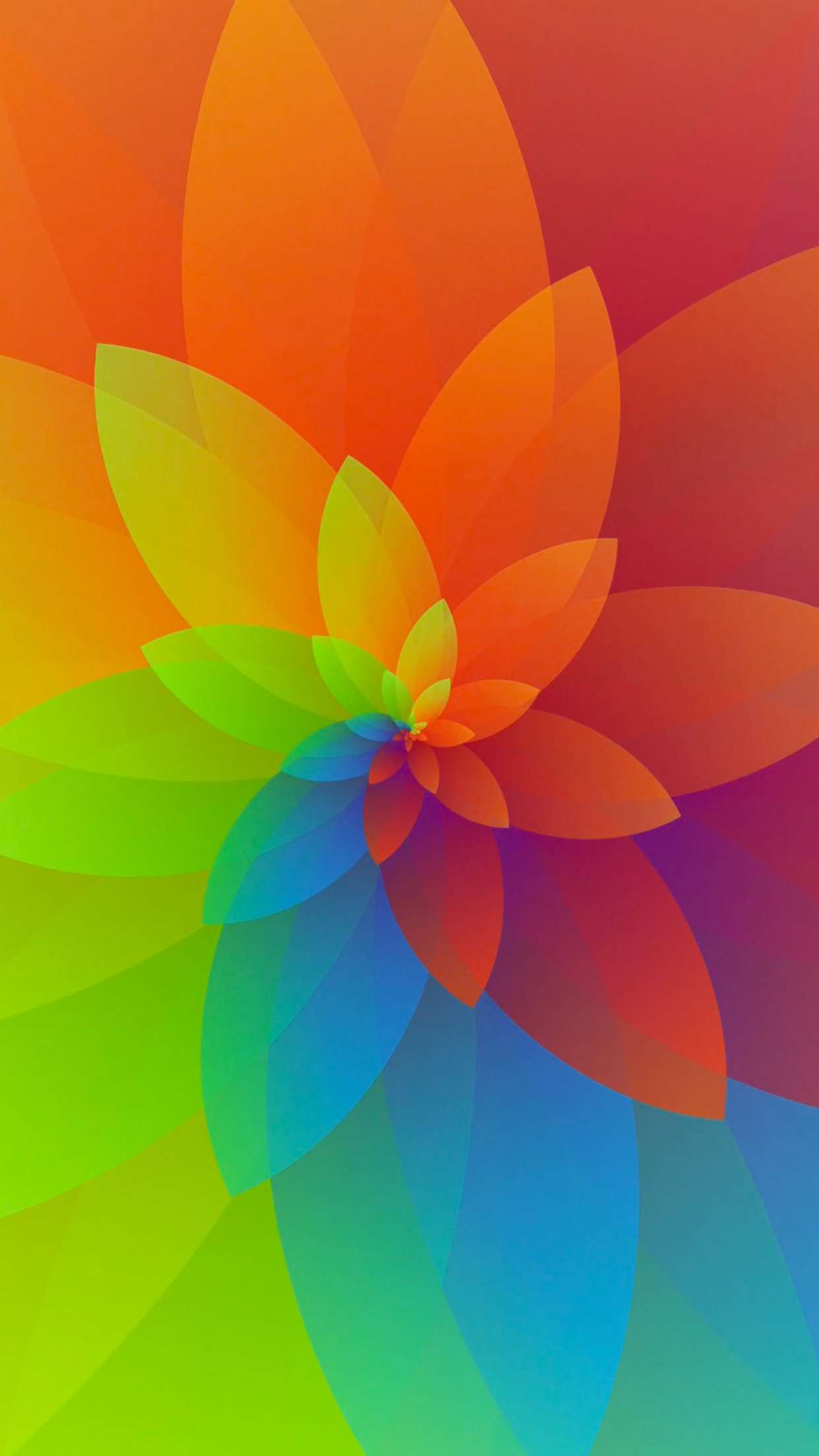 Abstract Flower iPhone Wallpaper