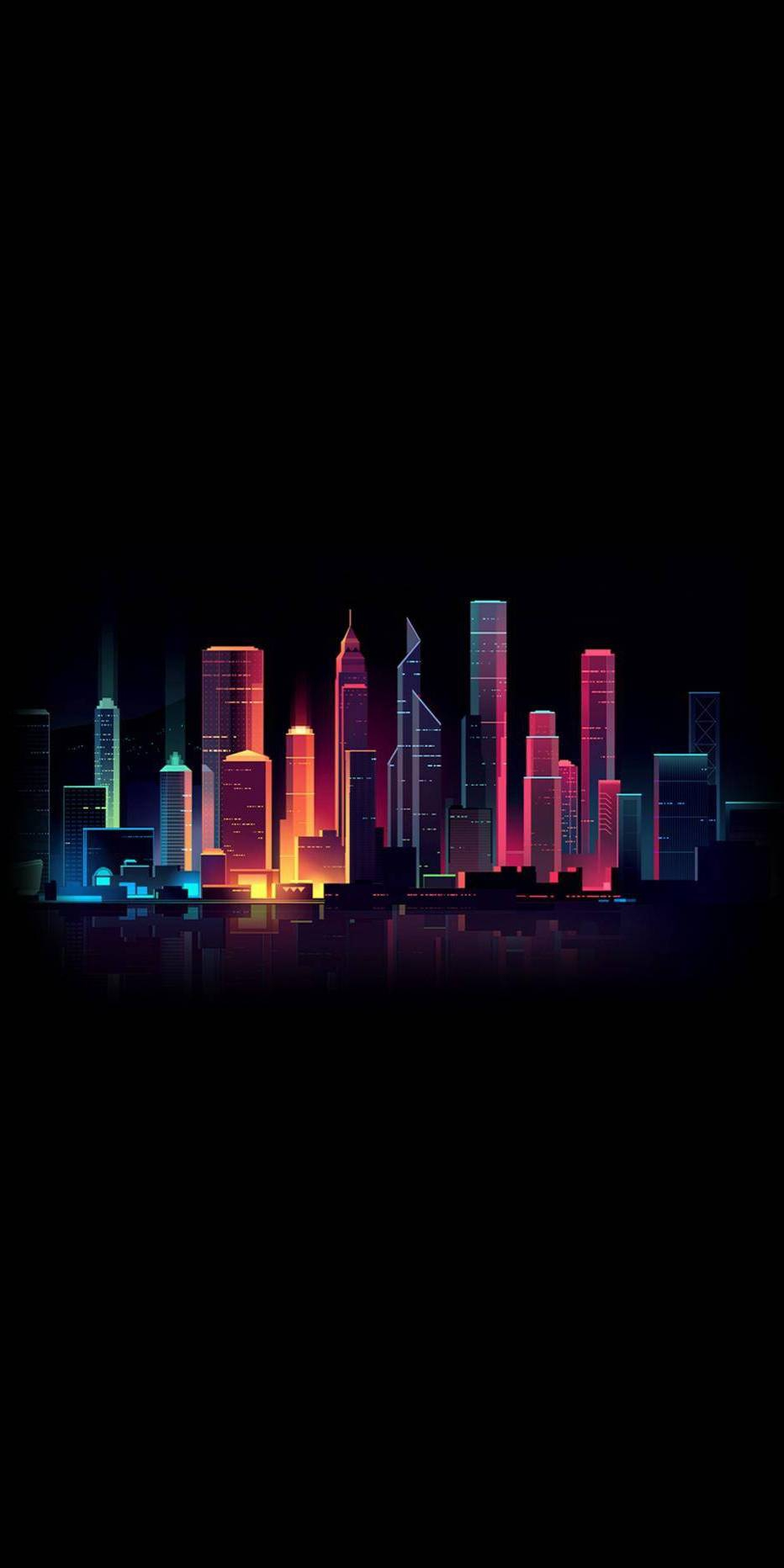 Amoled Dark City iPhone Wallpaper