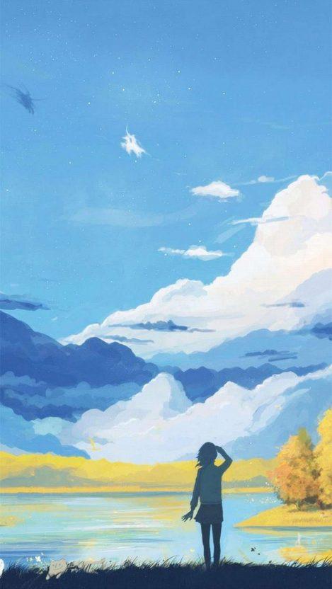 Anime Wonderland iPhone Wallpaper