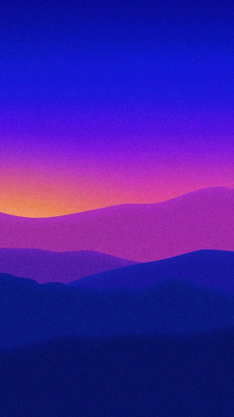 Art Mountains Sunrise iPhone Wallpaper