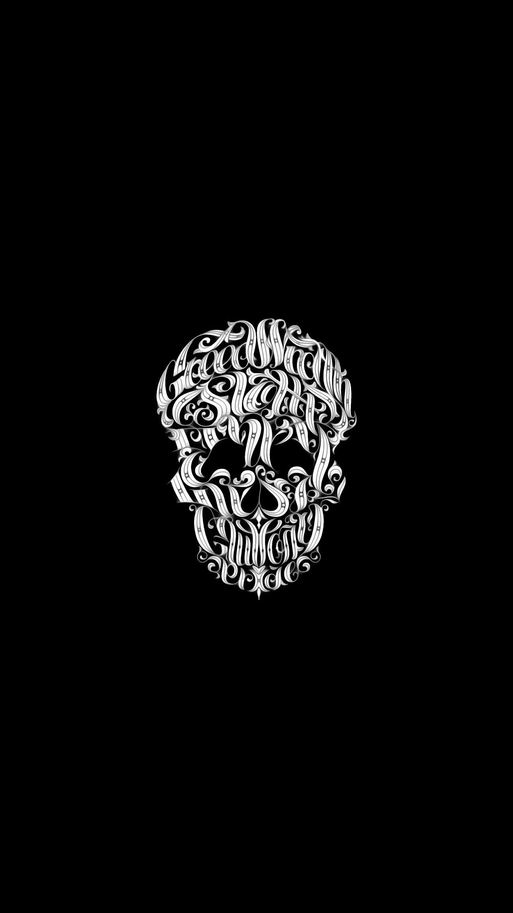 Art Skull iPhone Wallpaper