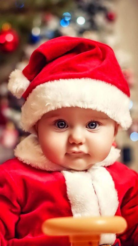 Baby Christmas iPhone Wallpaper