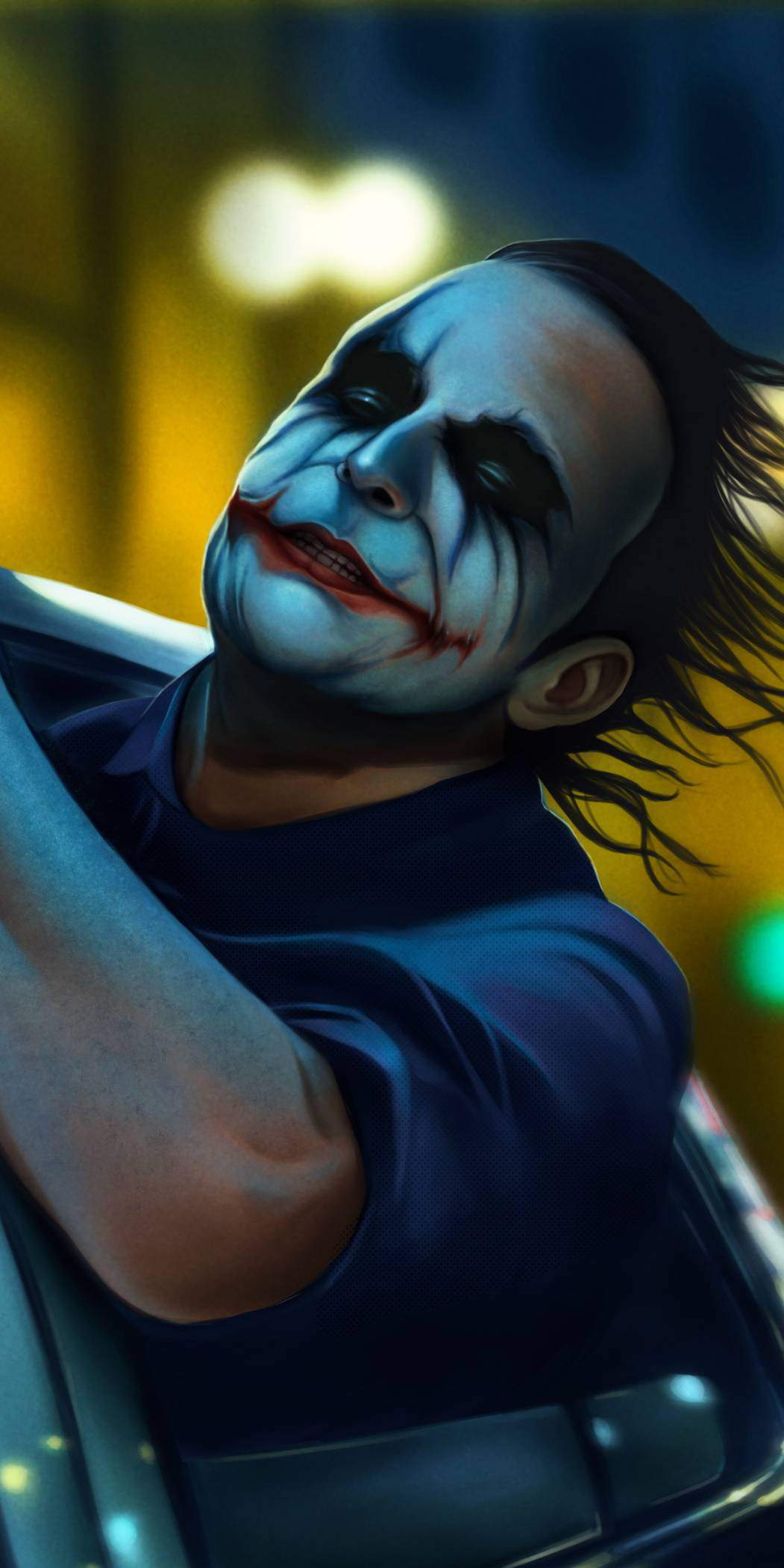 Batman Joker Crazy iPhone Wallpaper