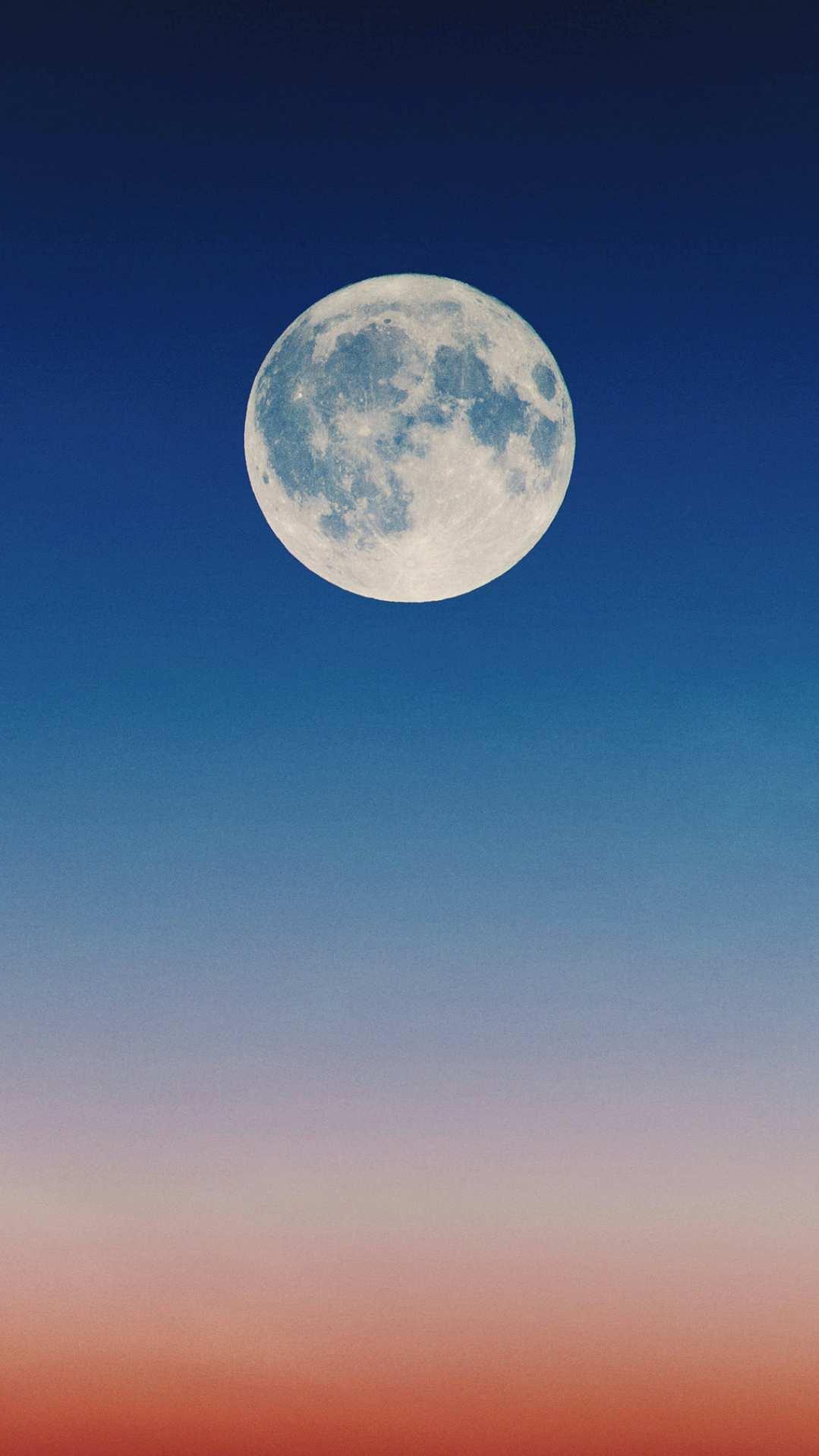 Big White Moon iPhone Wallpaper
