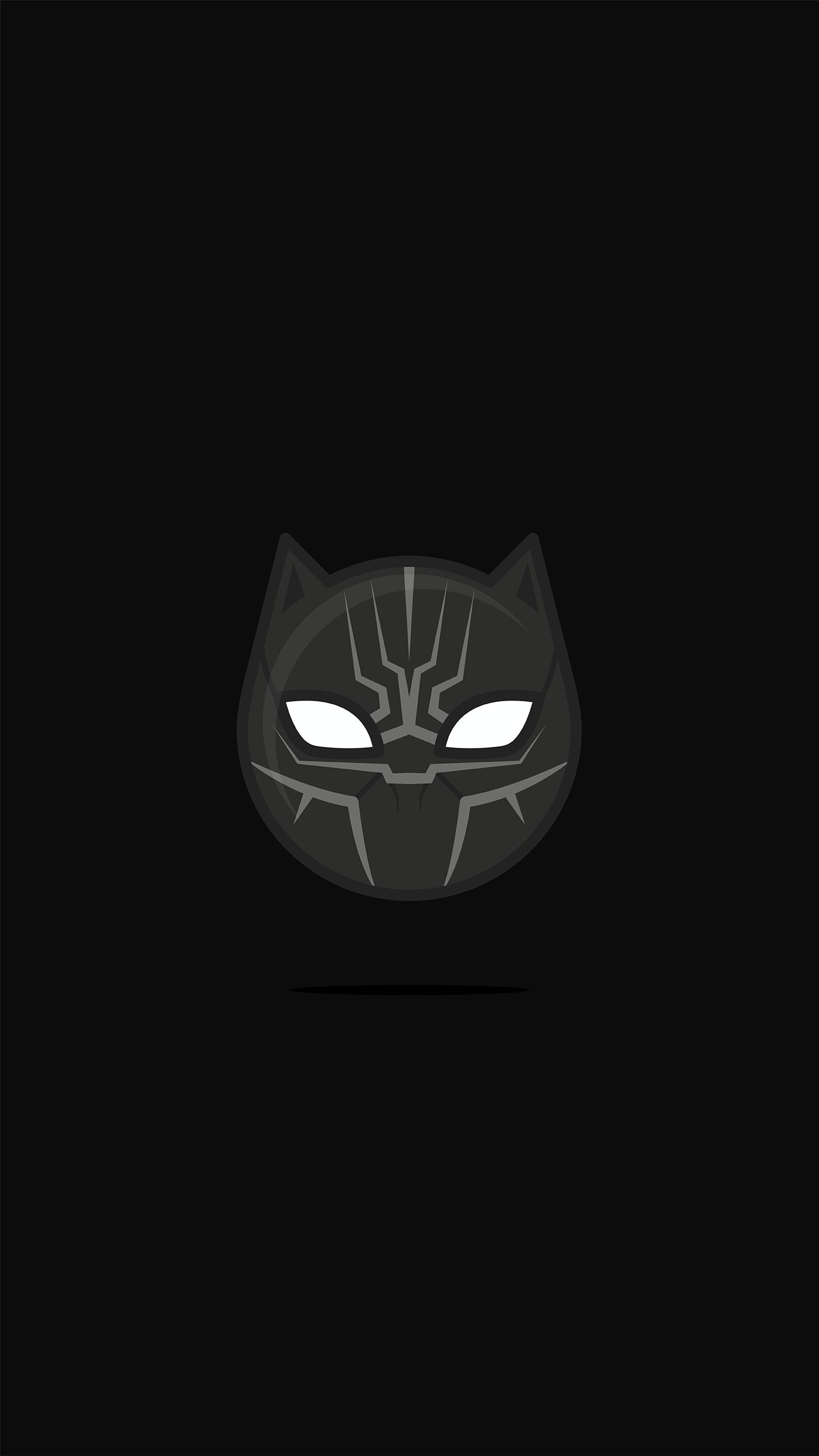 Black Panther Black Minimal iPhone Wallpaper