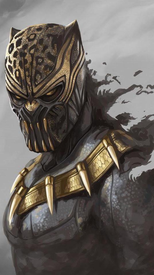 Black Panther Erik Killmonger iPhone Wallpaper