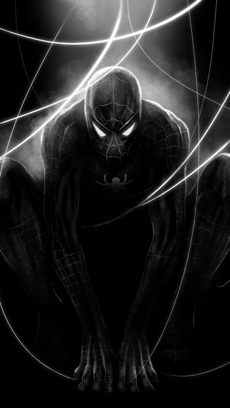 Black Spider Man iPhone Wallpaper