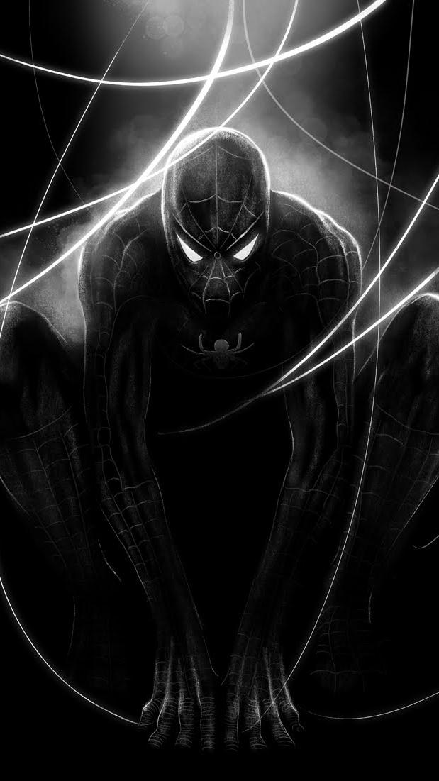 Black Spider Man iPhone Wallpaper