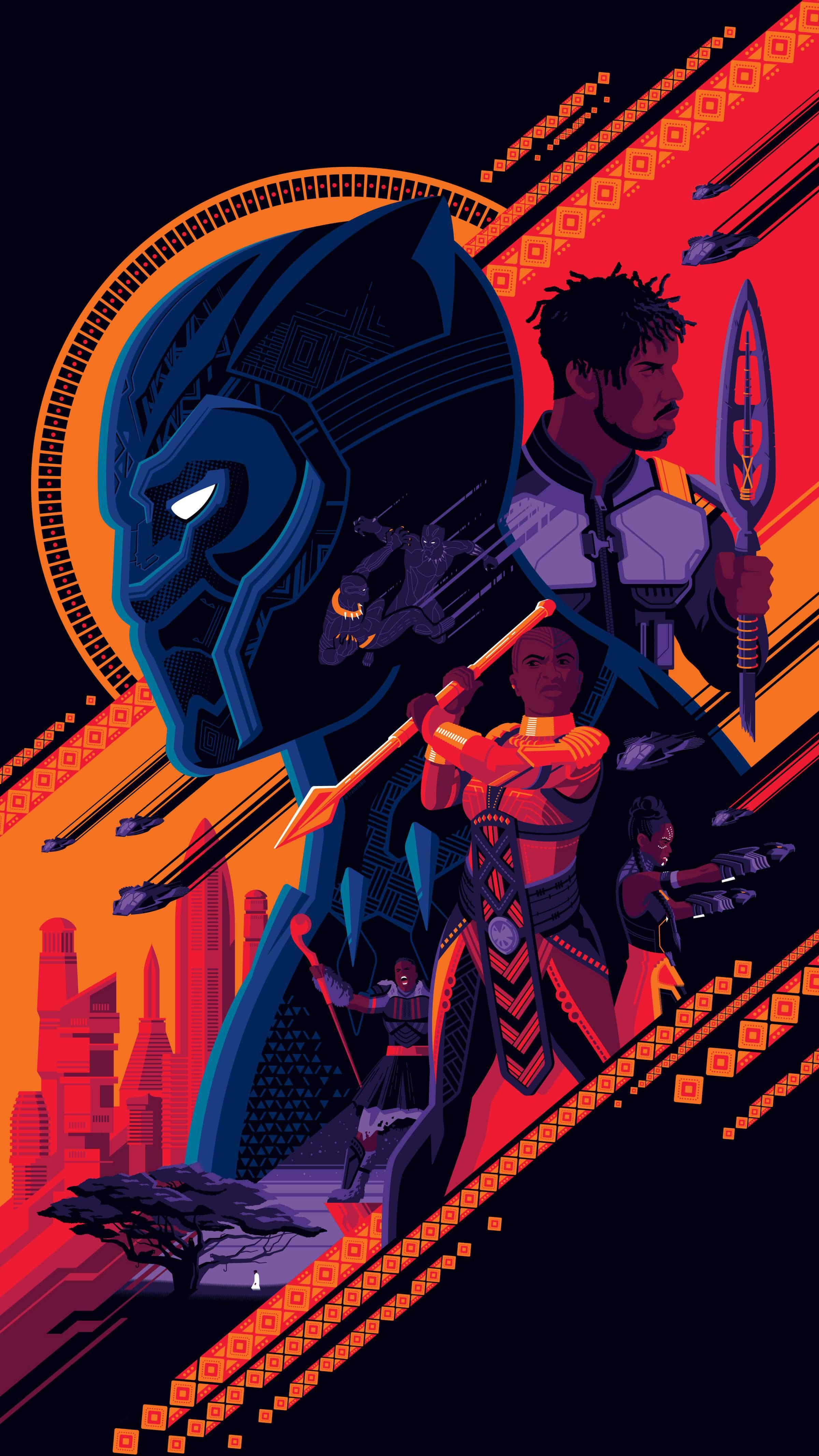 Black panther Wakanda iPhone Wallpaper