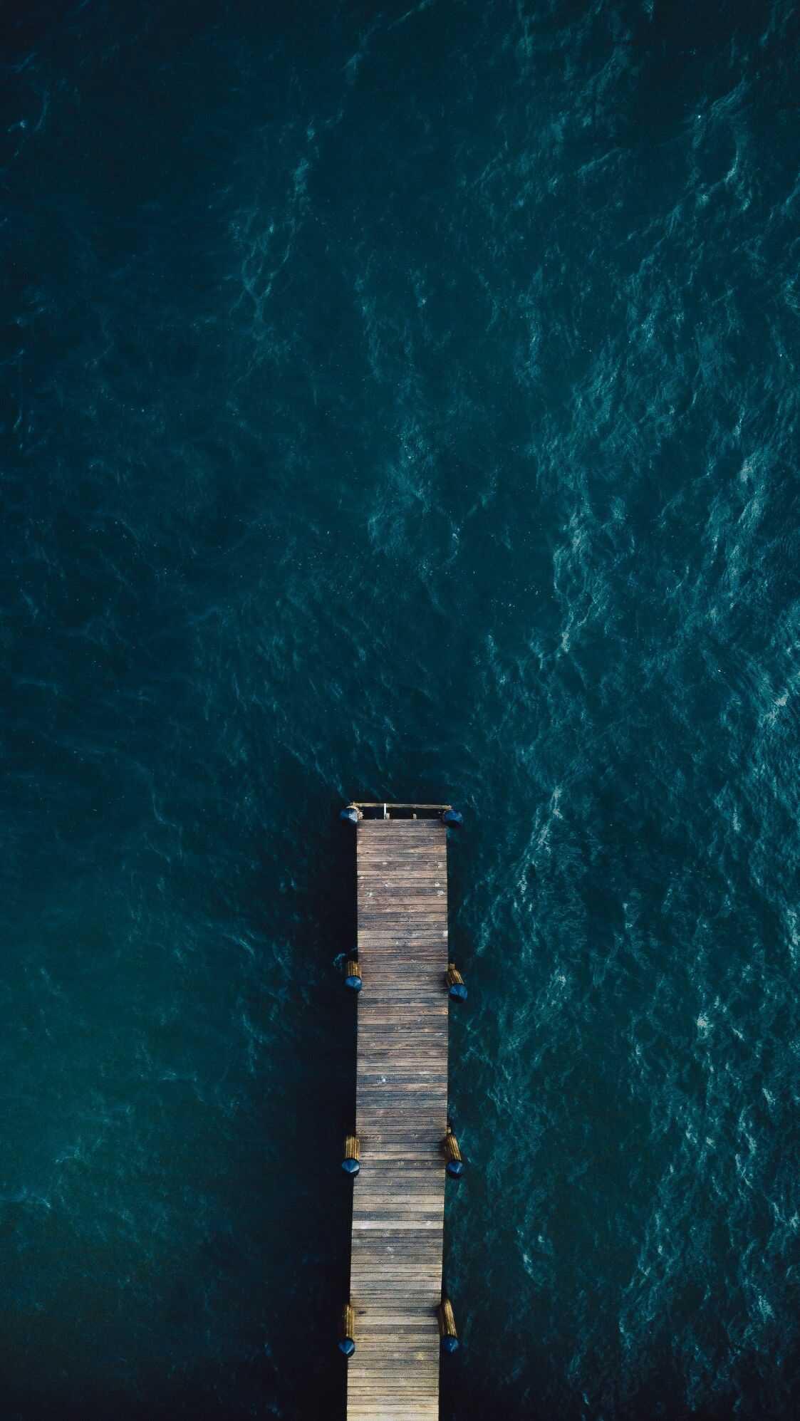 Blue Oean Pier iPhone Wallpaper
