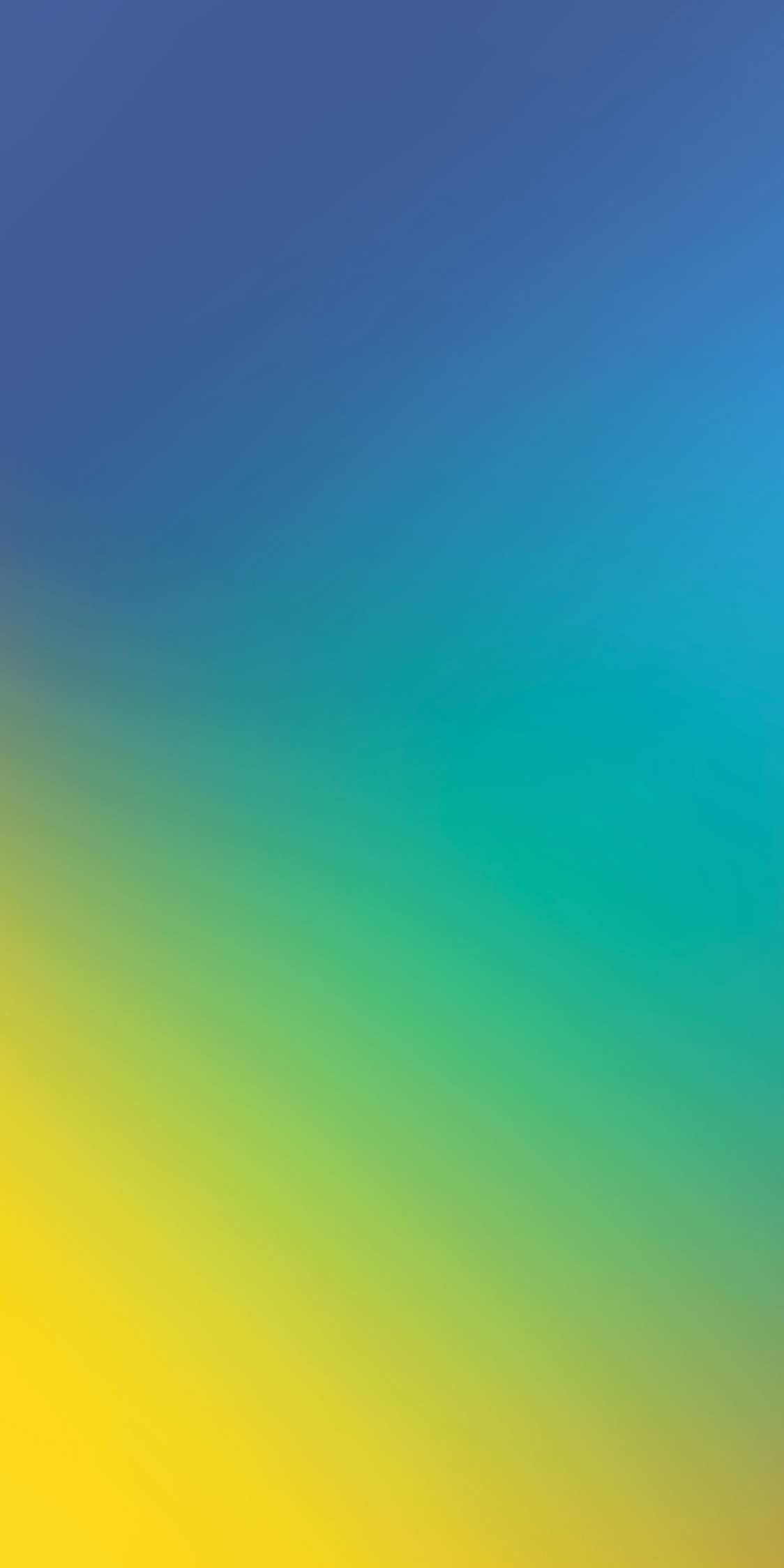 Blue and Yellow Gradient Background iPhone Wallpaper